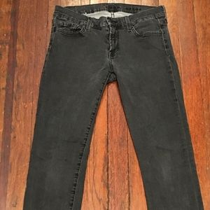 7 for all mankind charcoal grey skinny jean